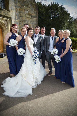 Wedding PArty at Bolney Church, Sussex