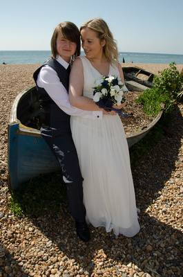 Couple Together on Brighton Beach
